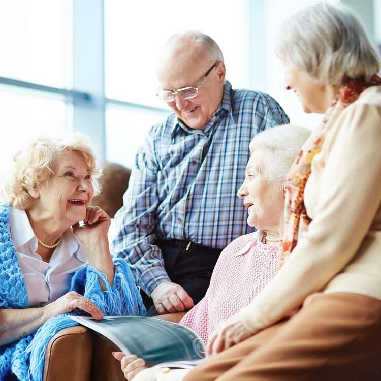 Gruppe Senioren Betreutes Wohnen